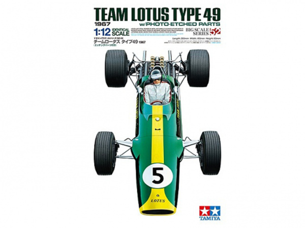 12052 Tamiya Lotus Type 49 1967 - w/Photo Etched Parts (1:12)
