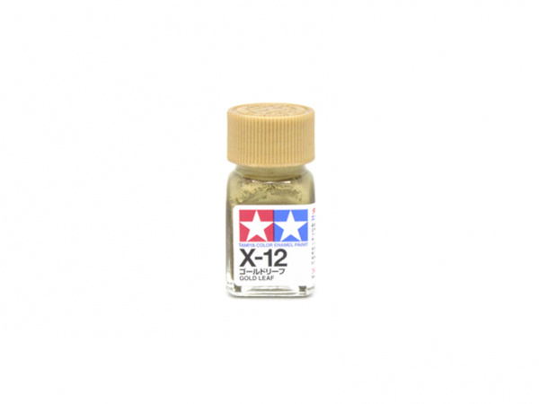 X-12 Gold Leaf metallic, enamel paint 10 ml. (Золото, металлик) Tamiya 80012