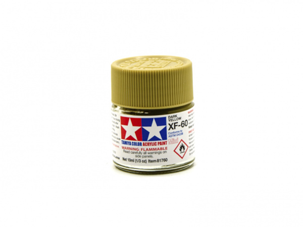 XF-60 Dark Yellow flat, acrylic paint mini 10 ml. (Тёмный жёлтый матовый) Tamiya 81760