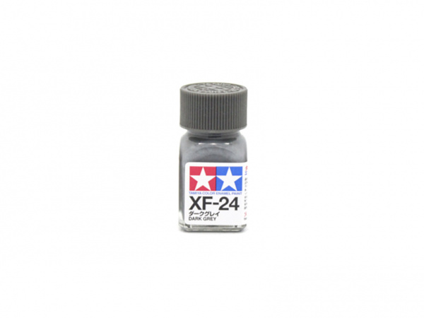 XF-24 Dark Grey flat, enamel paint 10 ml. (Тёмно-cерый матовый) Tamiya 80324