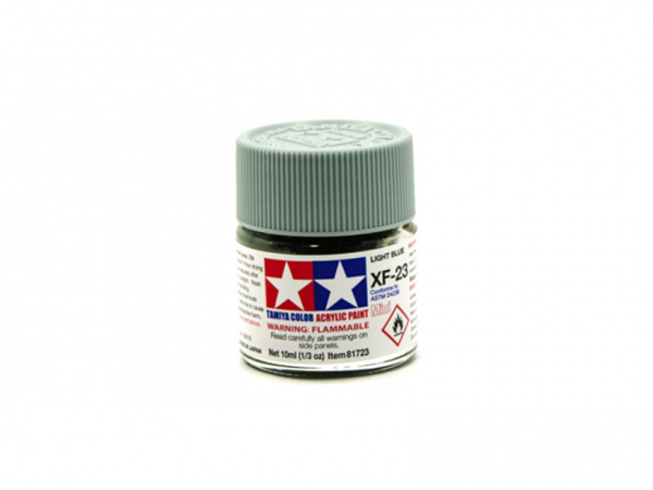 XF-23 Light Blue flat, acrylic paint mini 10 ml. (Голубой матовый) Tamiya 81723